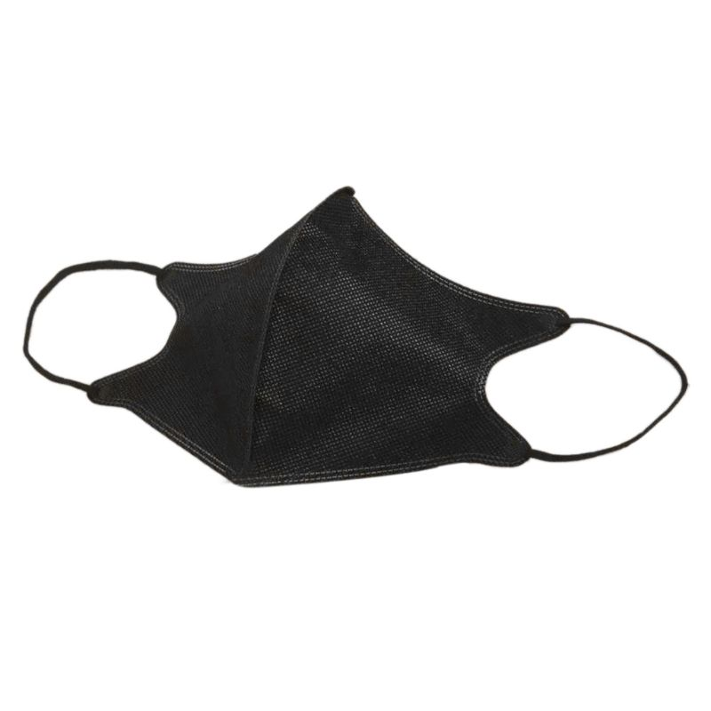 5 Pcs Disposable Air Filter Anti-Dust PM2.5 Medical Half Face Mouth Mask Non-Woven Fiber Material Black Mask
