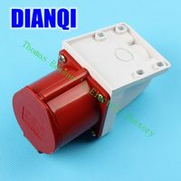 Industrial Socket Plug Coupler 124 CNQD-124 Red 32A 220V~415V 3P+E 4pin 60PCS/carton