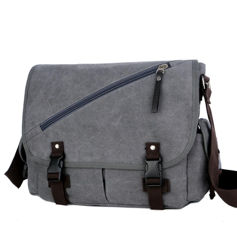 купить Vintage Men's Messenger Bags Big Capacity Canvas Shoulder Bag Casual Men Business Book Crossbody Bag Travel Handbag недорого