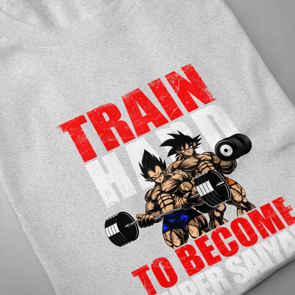 Train Hard Male Hip Hop t shirt Cotton S 6XL Homme Tee Shirt Dragon ball t shirt Vegeta Son goku Tees Summer Breathable in T Shirts from Men 39 s Clothing