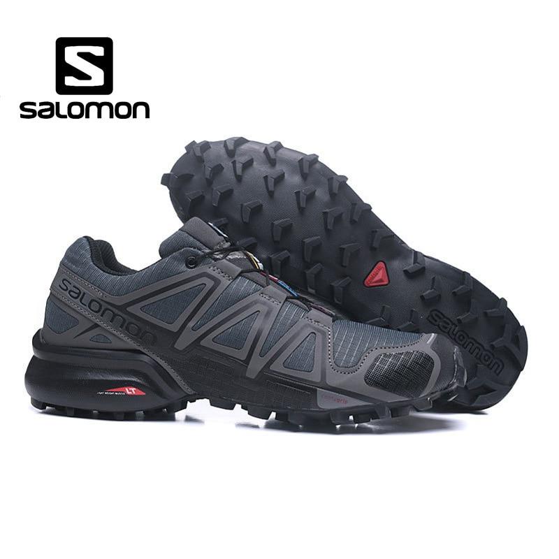 Salomon Uomini di Alta Qualità Scarpe di Velocità Croce 4 CS sneakers Cross-country Scarpe Lace-Up Speedcross 4 Da Jogging scarpe Runningg Scarpe