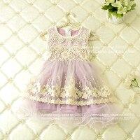 Hurtownie odzież dla dzieci Baby Girl księżniczka Koronki Tutu Sukienka Lato Sundress Wizytowe Dla Dzieci Birthday Party Odzież