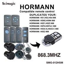 Controle de portão de garagem hormann 868 mhz, comando hormann hs1,hs2,hs1, hsm2, hsm4, hse2,hsz1,hsz2,hsp4,hsd2 A,hsd2 c, 868