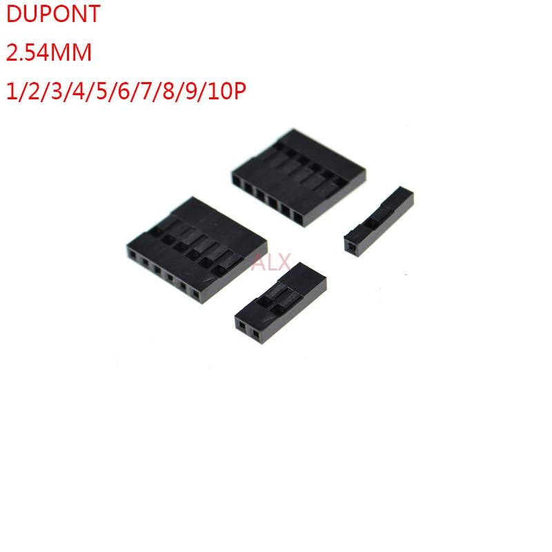 40pcs Dupont Head 2.54MM Plastic Housing Shell 2 x 2P //3P //4P// 5P// 7P// 8P 20P