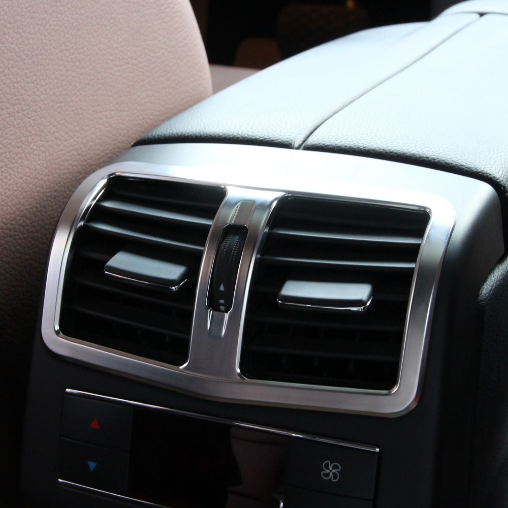 Car interior air quality - New Chrome Interior Armrest Box Rear Air Conditioning Vent Cover Trim Air Outlet Decorative For Mercedes