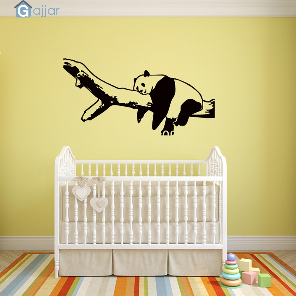 KAKUDER Bathroom Removable Panda Wall Sticker Removable Mural Decals ...
