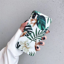 Vintage Flower Banana Leaf Phone Case For iphone XS Max XR X 7 8 6 6S Plus Summer Art Flowers Floral Soft TPU Back Cover Coque