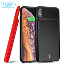 Travelcool Battery Case For iPhone XR Ultra Slim Silicone Shockproof 5000mAh Charger Smart Phone Soft TPU Charging