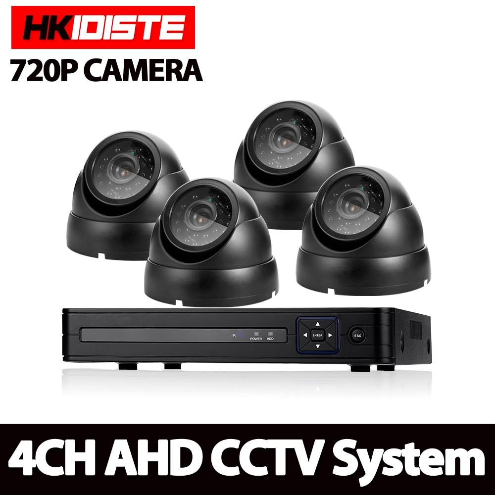 AHD 4CH 1080N HDMI DVR 2000TVL 720 P HD système de caméra de sécurité intérieure extérieure 4 canaux CCTV Surveillance DVR Kit AHD ensemble de caméra