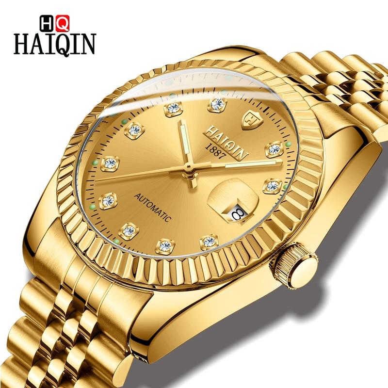 Offizielle Website Haiqin Herren Uhren Neue Luxus Mode Männer Mechanische Sport Uhr Wasserdichte Automatische Edelstahl Uhr Relogio Masculino Reines Und Mildes Aroma Mechanische Uhren