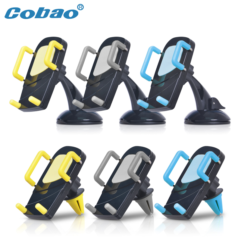 Cobao universal phone stand car windshield and air vent two use holder stand dashboard car mount holder for xiaomi iphone Huawei