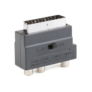 Image 5 - 21pin scart S Video/AV/TV/Audio Adapter Converter For SCART Euro plug in S terminal plus video left and right channel adapter
