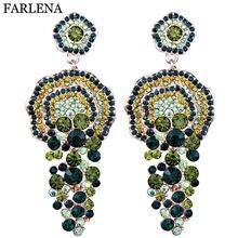 Ювелирные изделия farlena роскошные серьги капли с полностью
