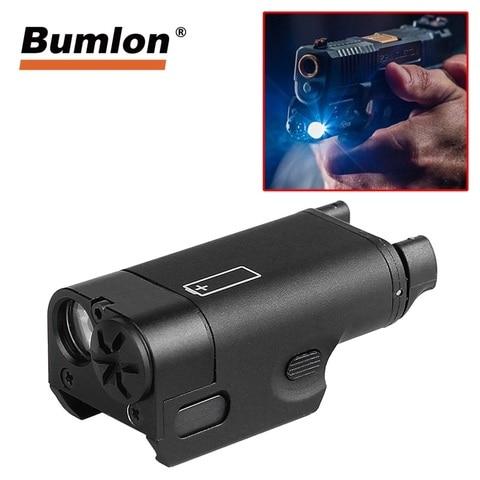 xc1 lanterna 200 lumens arma pistola de luz se encaixa rl8 0017 20mm rail mount