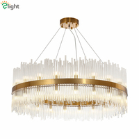 Luxury Lustre Gold Pendant Light Led G9 Luminaires Fixtures Hanging Lamp Living Room Led Pendant Lamp Glass Tubes Suspend Lamp