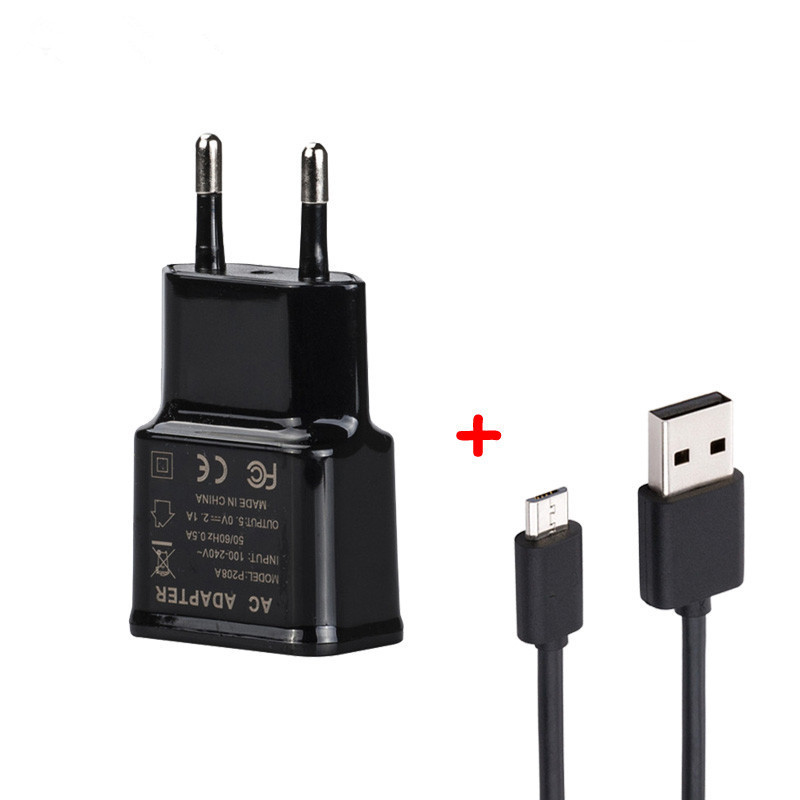 Micro USB Travel Wall Charger Adapter For Prestigio Muze X5 D5 C7 LTE J3 C5 B5 H3 B7 B3 K5 A7 A5 F3 C3 D3 E3 1M Micro USB Cable image