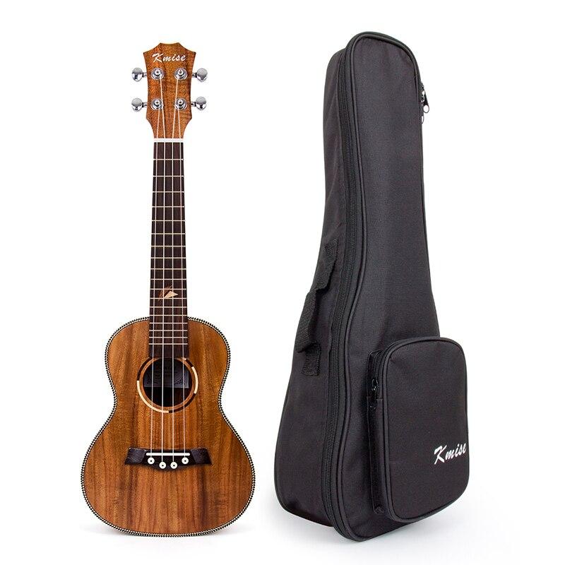 Kmise Concert Ukulele Acacia Ukelele Uke 23 inch 18 Frets Aquila String with Gig Bag