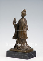 Classical Bronze Geisha Statue Art Handicraft Carving Craft bronze sculpture woman for decoraion