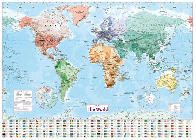 The latest english french label world map high quality covered firm the latest english french label world map high quality covered firm school supply hd copperplate printing gumiabroncs Choice Image