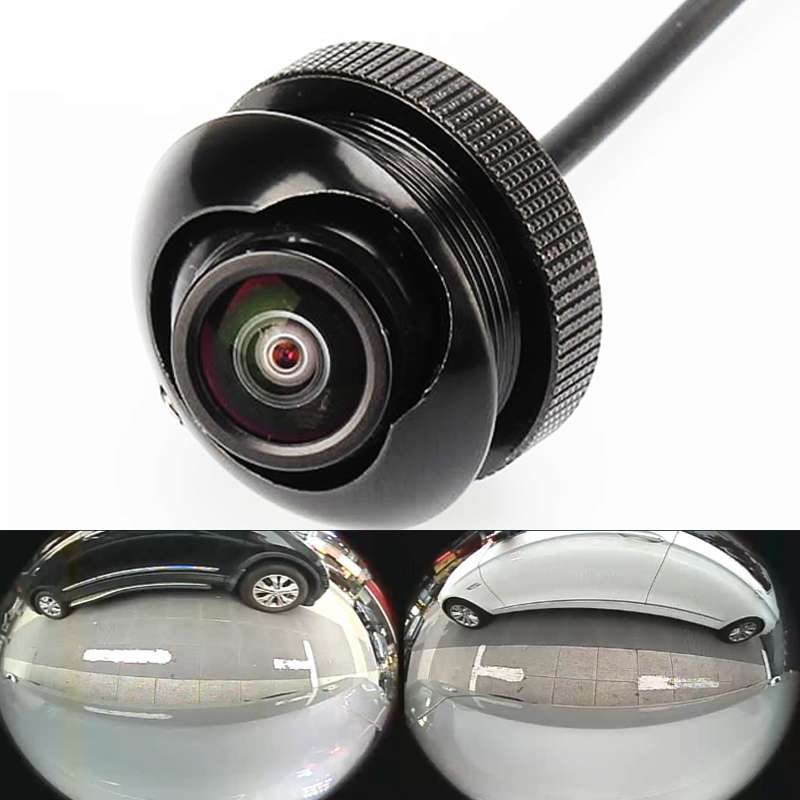 600L CCD 180 gradi macchina fotografica Fisheye LENS wide angle Rear Front side view camera reverse backup 360 rotato visione notturna impermeabile