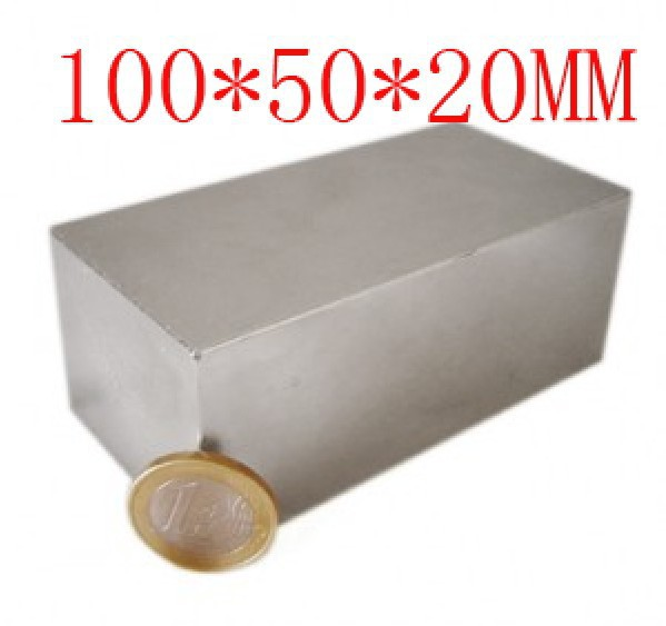 magnet 100 x 50 x 20 mm powerful craft neodymium rare earth permanent strong N35 N35 цена