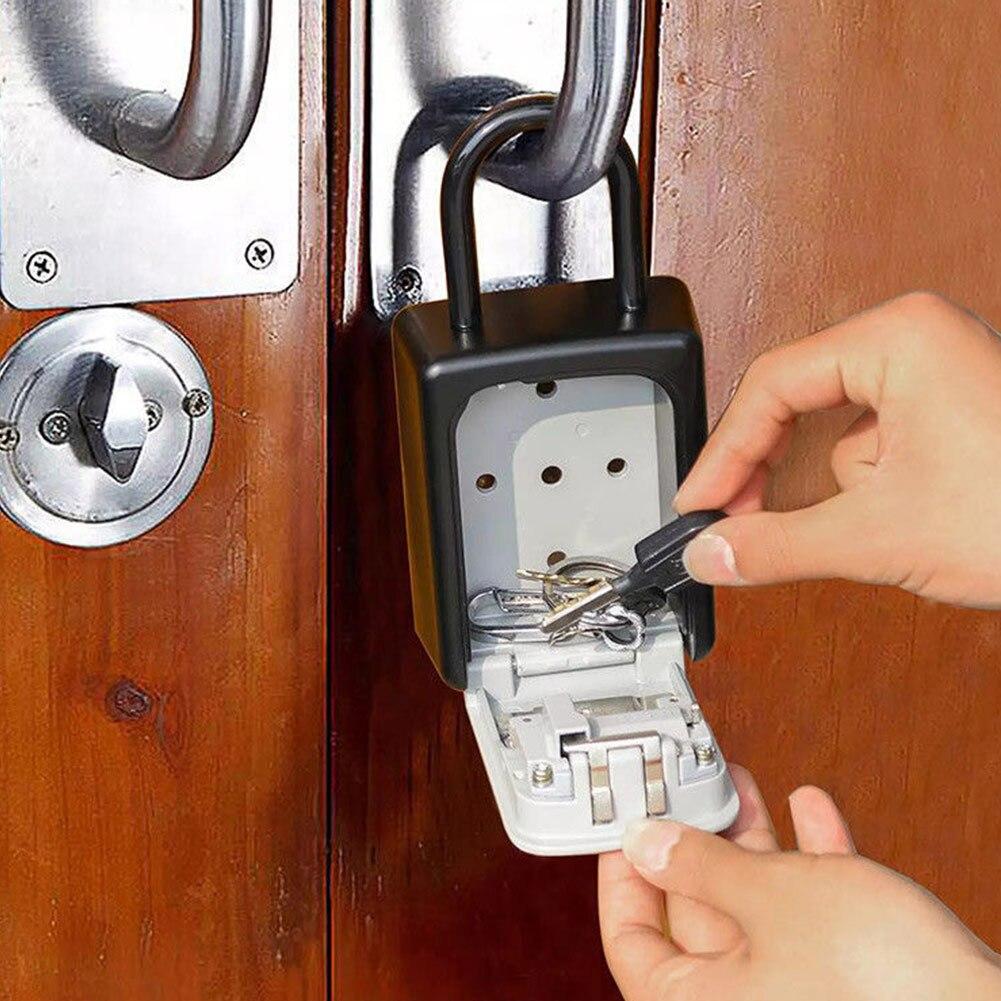 4-Digit Combination Lock Key Safe Storage Box Padlock Security Home Outdoor Supplies QF664-Digit Combination Lock Key Safe Storage Box Padlock Security Home Outdoor Supplies QF66