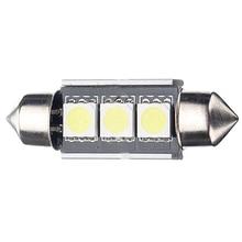 10x)  20pcs 36mm 3 LED CANBUS 5050 Light Bulb Car Interior Festoon Light DC 12V, White