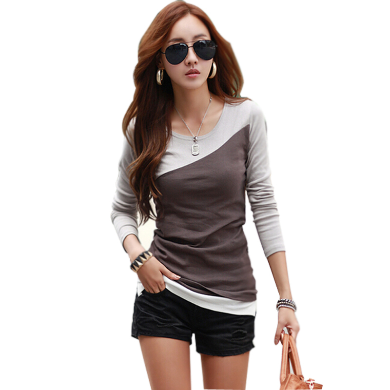 poleras de mujer t shirt women tshirt 2016 fashion womens long sleeve tops  tee shirt femme cotton t shirt casual camisetas mujer on Aliexpress.com  6ea525f41fe3