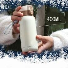 400 ml Mini Botella de Agua CALIENTE Termo para Niños Garrafa Termica de Acero Inoxidable Inox Niños Viajan Taza Taza Copo Termico termo