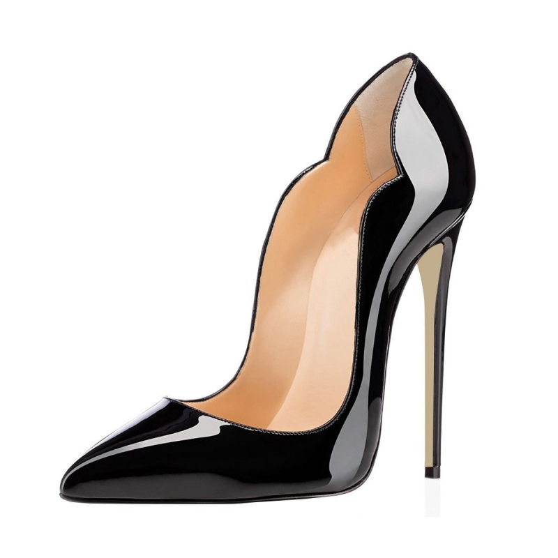 Brand Wedding Shoes Woman 12CM High Heel Pointed Toe Sexy Nude Shoes For Women Genuine Patent Leather Dress Pumps SR-B0014 brand women shoes high heels 12cm sexy pumps shoes for women patent leather high heels wedding shoes woman high heel b 0054