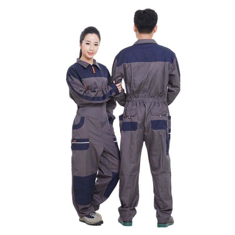 2019 Work Wear Overalls For Men Fashion Tooling Loose Cargo Overalls Long Sleeve Repairman Auto Repair Jumpsuits 071701