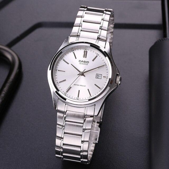 eb39955eac9a Casio reloj de acero de puntero Simple calendario de los hombres MTP -1183A-7A