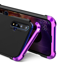 For Honor 20 Cover Elegant Metal Case Slim Body Shockproof Coque for Huawei P30 Pro Aluminum + PC Back