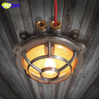 Фумат газовая плита форма потолка огни Американский промышленные Винтаж потолочный лампы для ресторана водонепроницаемый утюг Ванная ком