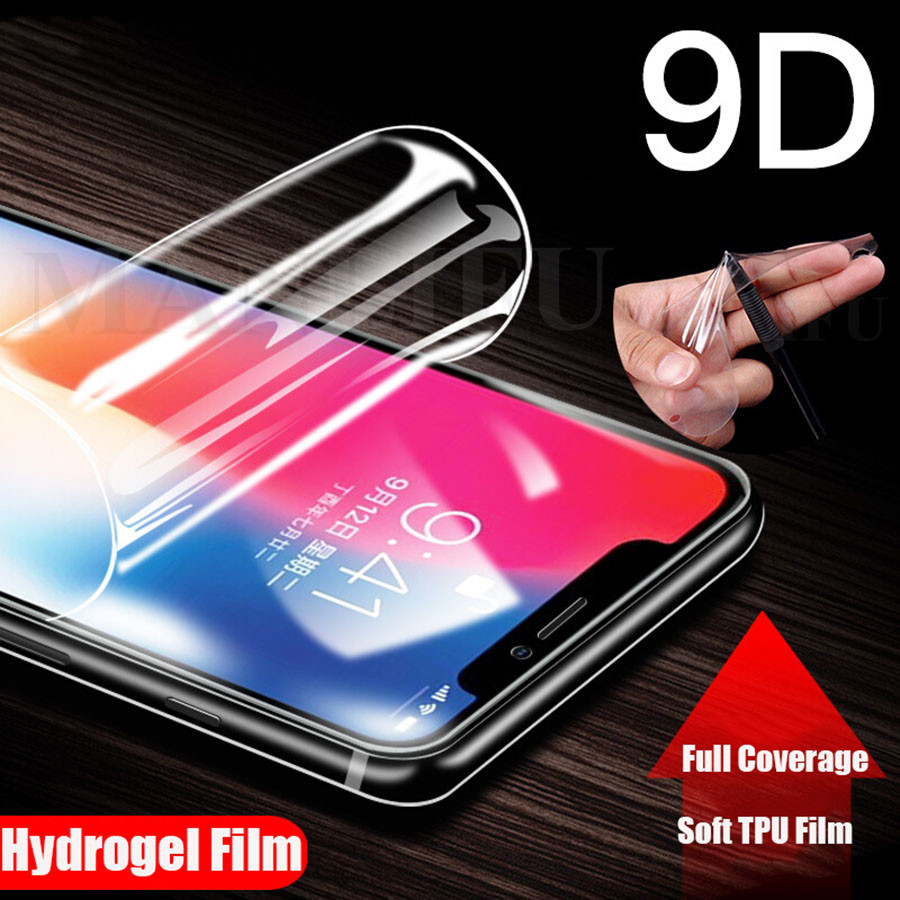 Para Apple iPhone XS Max XR 8 7 X 6 película protectora de pantalla de cobertura completa de hidrogel