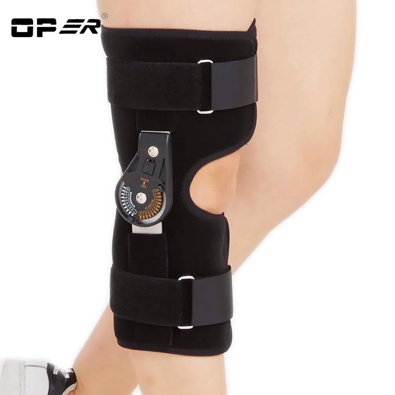 OPER Knee Pads Hinged Orthosis Brace Support Justerbar Medicinsk - Sjukvård - Foto 2