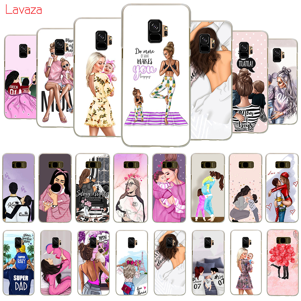 Lavaza Super mama girly Girl Queen Hard Phone Case for Samsung Galaxy A10 A30 A40 A50 A70 M10 M20 M30 Cover image
