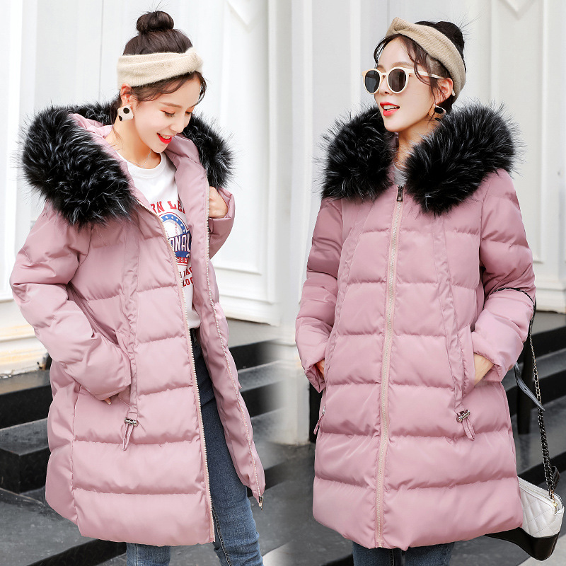 Maternity Women New Moms Long Sleeve Hooded Down Cotton Cardigan Coat Casual Fashion Thicken Warm Puffer Outdoor Winter Jackets fashion long sleeve solid color pockets cardigan for women