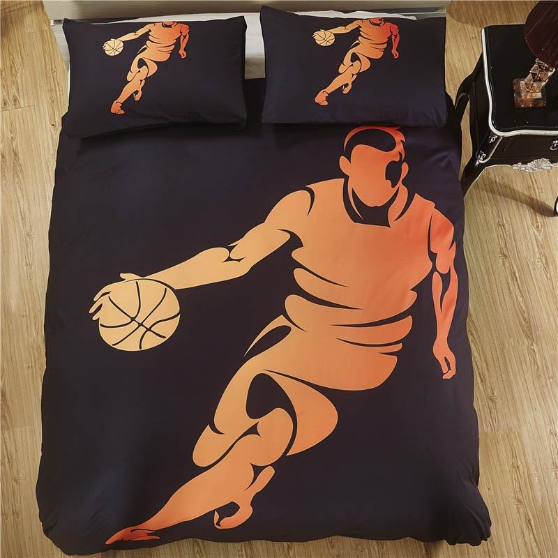 Bonenjoy Basketball Bed Cover Sport Style Queen Size Duvet Cover Set King Bedding Sets Dribble Bed Set For Kids Children Bedding