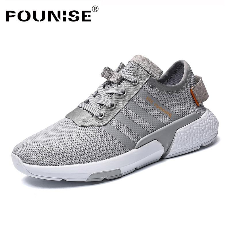 Printemps De D'été Chaussures gray white Sneakers Lumière Espadrilles Casual Weige Black Designer Formateurs Respirant Mode Hommes 2018 pFfqYn4q