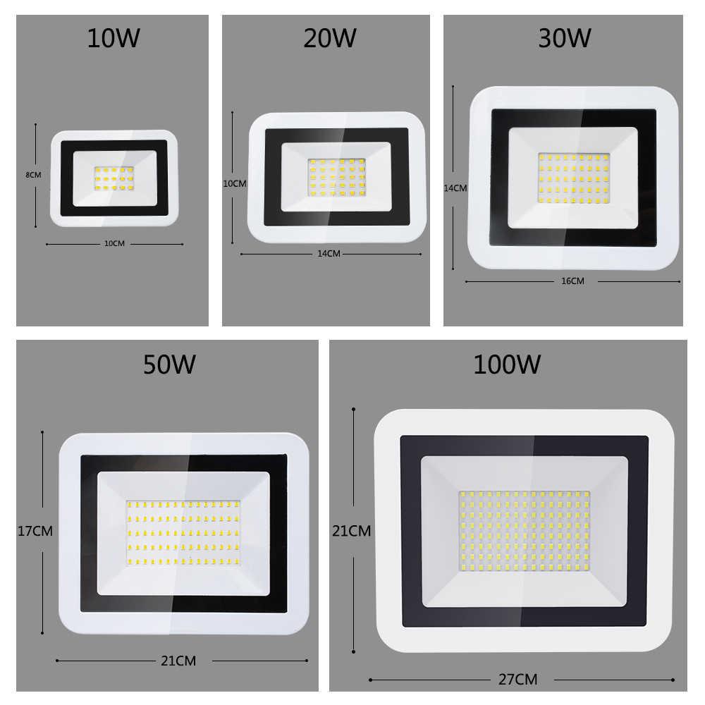 2018 Светодиодный прожектор 50 Вт 110 В 220 В 10 Вт 20 Вт 30 Вт Светодиодный фонарь-Рефлектор светодиодный наружный светильник садовая лампа новейшая