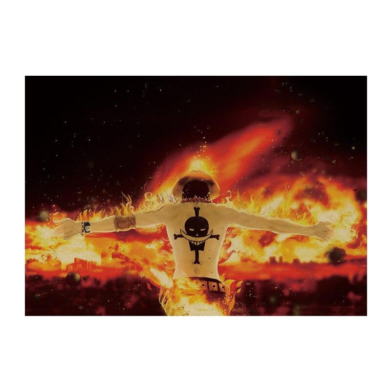 ONE PIECE 1470/classic Luffy/classic Japanese Cartoon Comic/kraft Paper/bar Poster/Retro Poster/decorative Painting 51x35.5cm