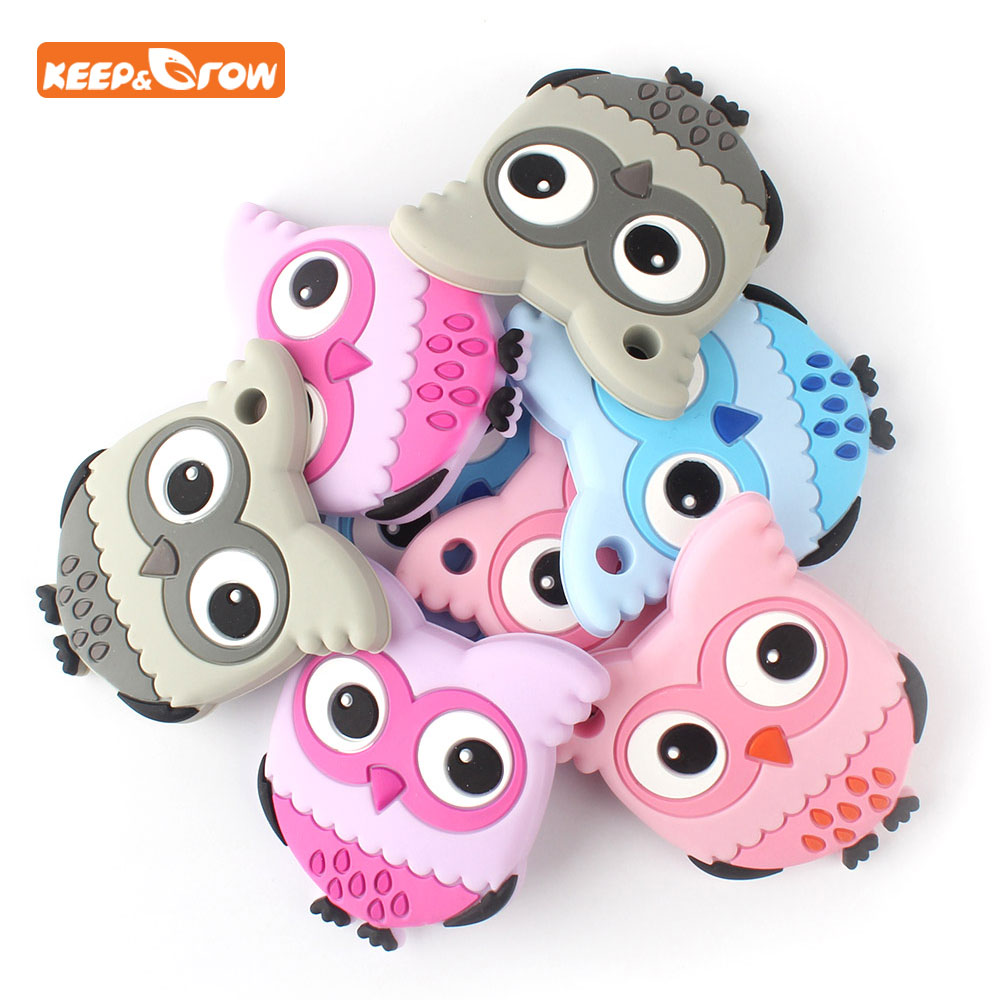 Keep&grow Food Grade Silicone Teethers DIY Unicorn Biscuit Baby Ring Teether Infant Baby Chew Charms Kids Teething Toddler Toys