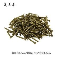 [ Хаотянь вегетарианская ] античная медь фитинги медные винты для ногтей 1.9 см / Tongding / HTL-078