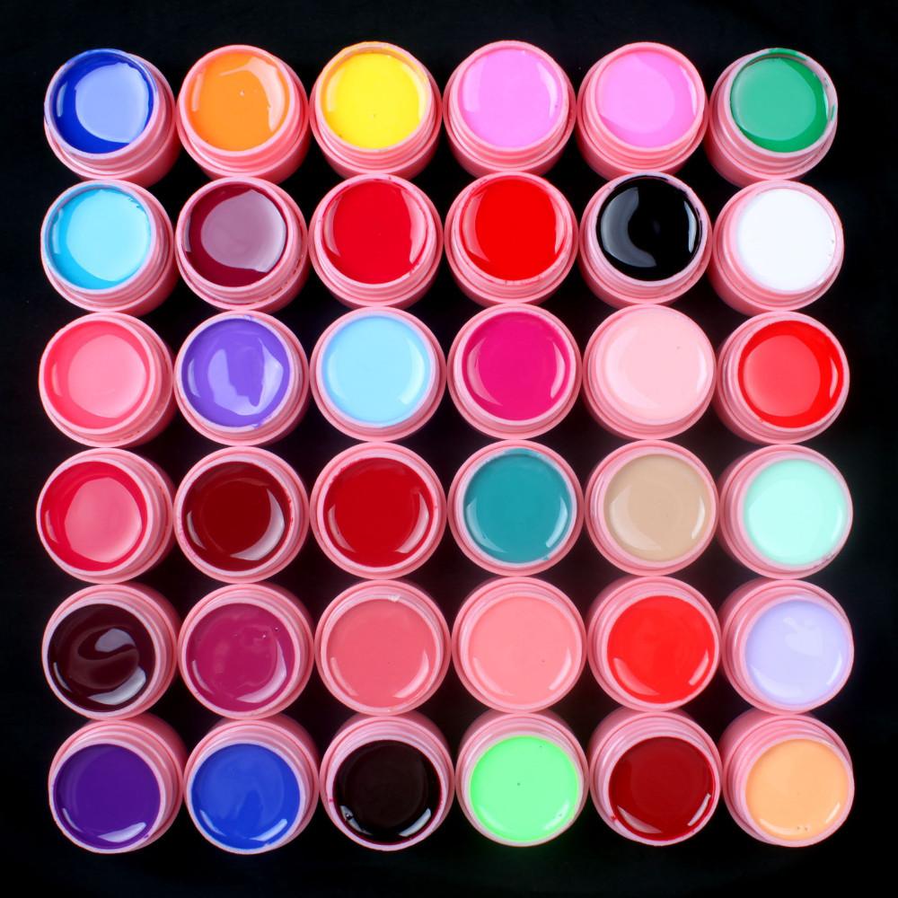 UVGL039- PINK POT 36Pcs Mix Pure Solid Color UV Gel