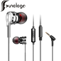Funelego Neue Ohrstöpsel Kopfhörer Mit MIC Für Apple Android Smart telefon F23 Modell Stereo Schwerer Baß Für MP3 HD Metallgehäuse