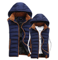 Hot Sale Stars Loves Brand New Arrival Slim Man Vest 2016 Autumn Winters Hooded Cotton Padded Men's Vests 4 Colors 5 Size