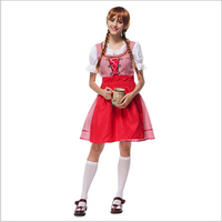 2016 new hot Party Cosplay Carnival Maid Costumes For Women Octoberfest Bavarian Oktoberfest German Beer Girl Costumes M L XL