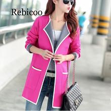 Rebicoo Womens Clothing Coat Sweater Cardigan For Women plus size 2019 New Spring and autumn Sweaters Korean Style Female Fashi