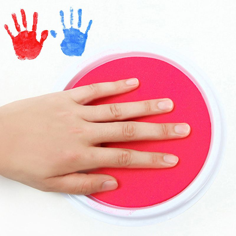 Ink Pad Baby Handprint Footprint Painting Fingerprint Kids Washable Memory Collection Newborn Inkpad